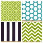 Crib Bedding Turquoise Lime Green Navy Blue