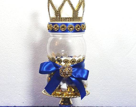 Crown Prince Baby Shower Centerpiece Boys Royal Blue
