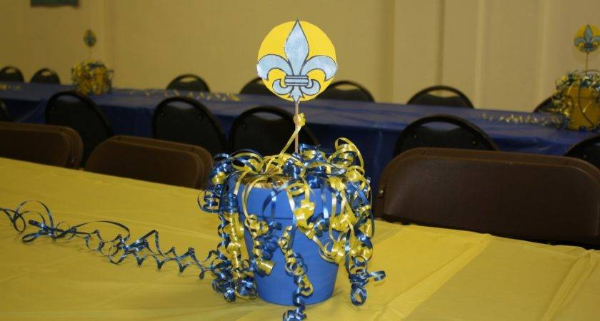Cub Scout Blue Gold Centerpieces Car Interior Design