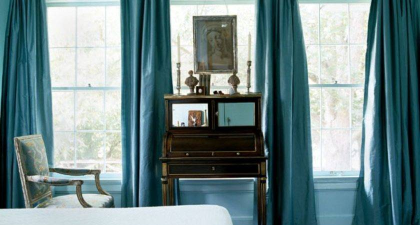 Curtain Color Blue Walls Turquoise Black Room