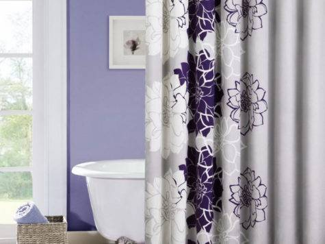 Curtain Color Purple Wall Home Honoroak