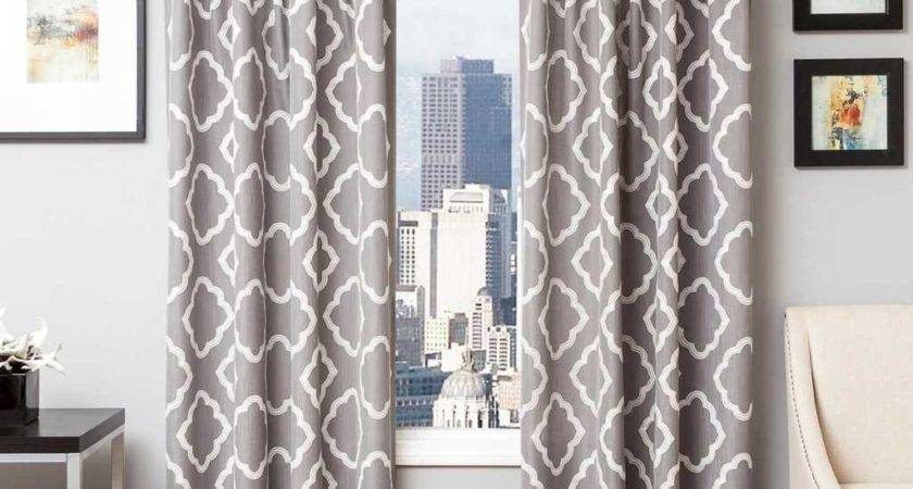 Curtain Glamorous White Grey Panels