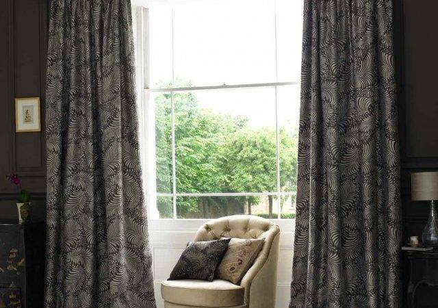 Curtain Outstanding Dark Gray Curtains Decoration