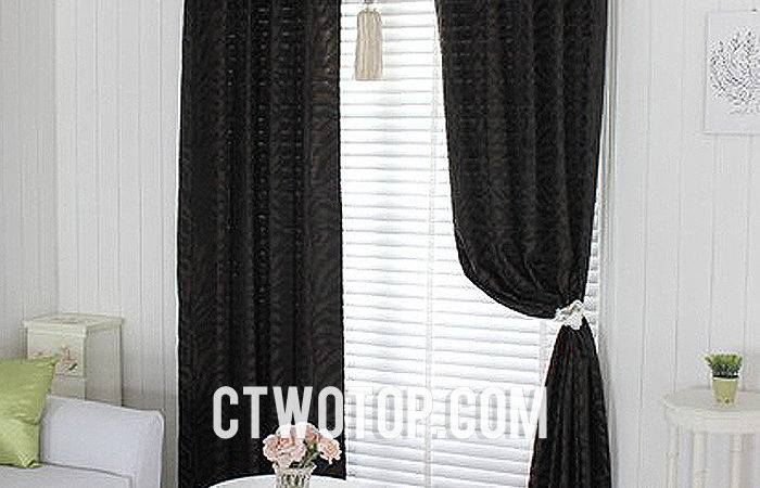 Curtains Brown Living Room Modern House