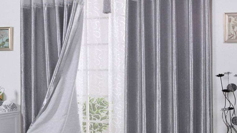 Curtains Grey Living Room Modern House