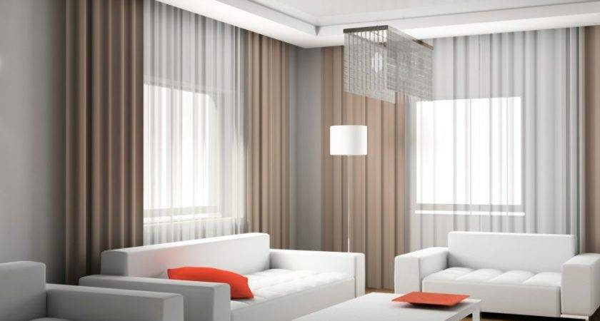Curtains Living Room Modern Style Interior