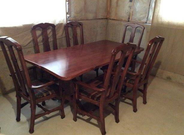 Custom Dining Room Table Captain Chairs