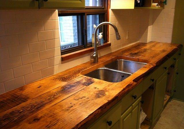 Custom Kitchen Counter Reclaimed Wood Traditional