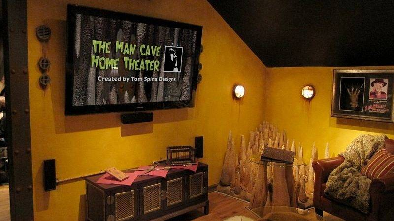 Custom Man Cave Horror Themed Home Theater Movie Prop