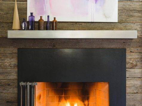 Custom Metal Fireplace Surrounds Design Ideas