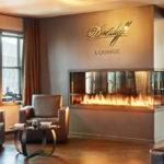 Custom Peninsula Fireplace Davidoff Cigar Lounge