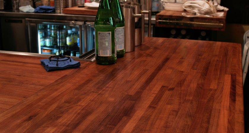 Custom Wood Countertop Options Joints Multi Section Tops