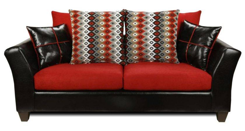 Cynthia Modern Sofa Patterned Pillows Denver Black