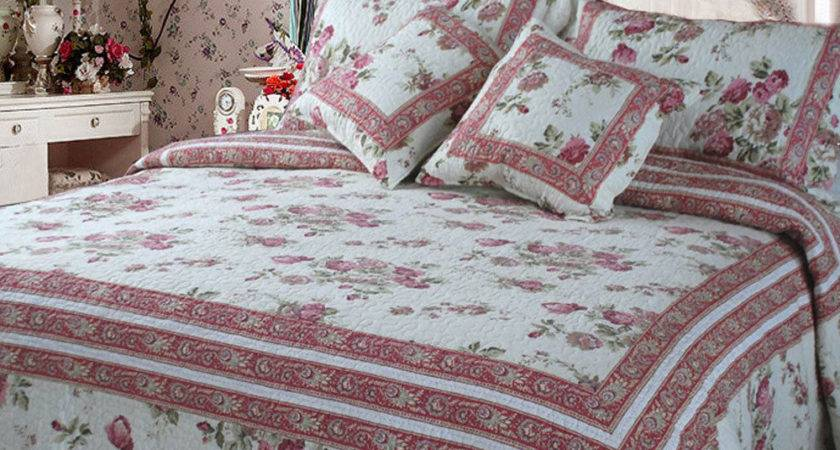 Dada Bedding Floral Print French Country Quilted Bedspread