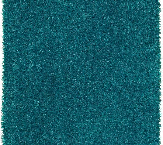 Dalyn Teal Blue Solid Vibrant Shag Tufted Area