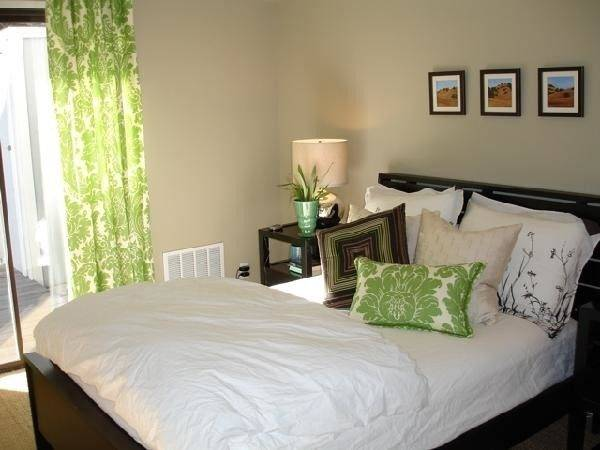 Damask Drapes Transitional Bedroom Apartment Therapy