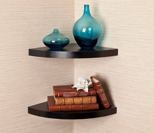 Danya Rounded Corner Shelf Set Black Target