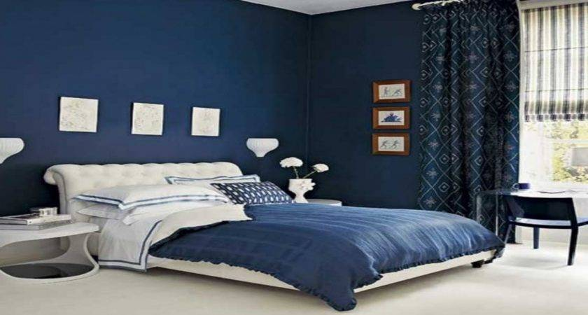 Dark Blue Color Scheme Nice Young Adults Bedroom