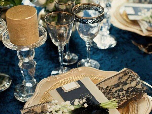 Dark Blue Gold Wedding Theme Pixshark