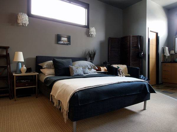 Dark Blue Gray Bedrooms Pixshark