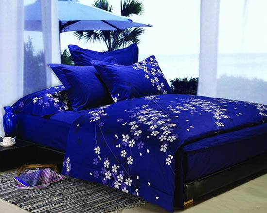 Dark Blue Purple Bedding Sets Royal Bedroom