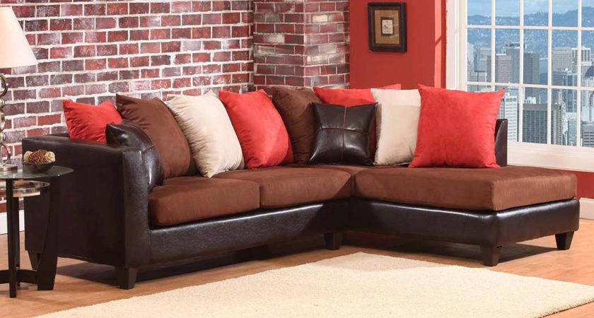 Dark Brown Chocoloate Couch Sectional Sofa