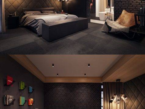 Dark Color Bedroom Decorating Ideas Shows Luxury