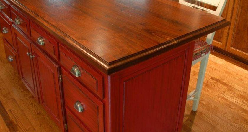 Dark Color Tone Wood Counter Tops Table Bar