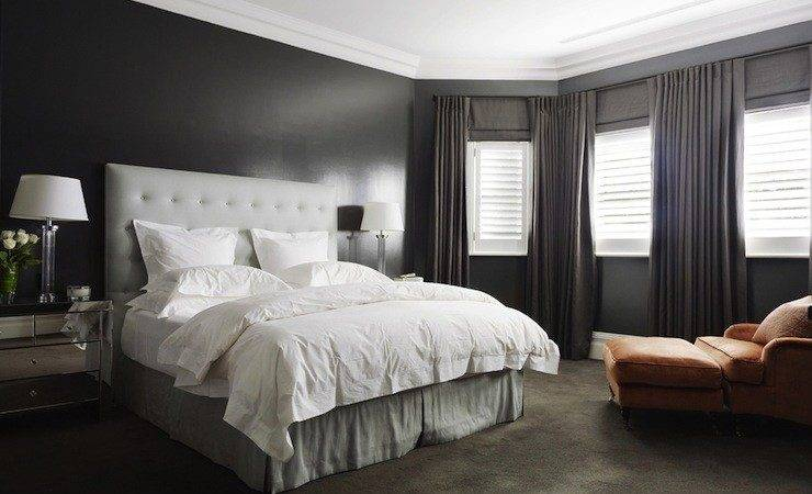 Dark Gray Bedroom Contemporary Denai Kulcsar