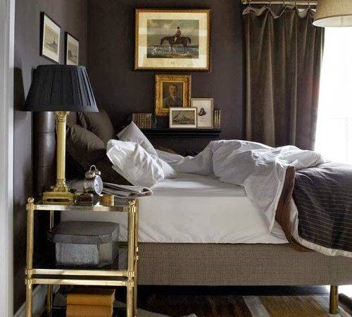 Dark Grey Masculine Bedroom