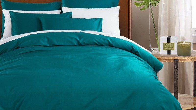 Dark Teal Pure Colored Vintage Luxury Western Style Soft