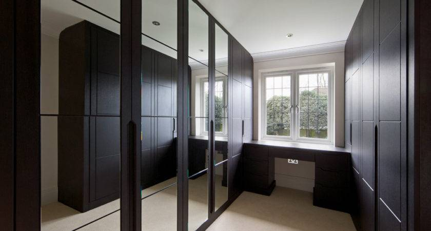 Dark Wood Modern Fitted Wardrobes Bespoke Furniture
