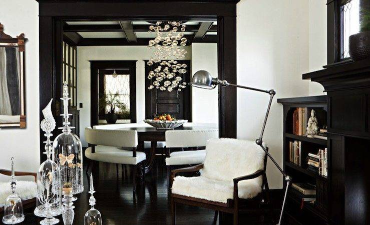 Dark Wood Moldings Eclectic Living Room Jessica