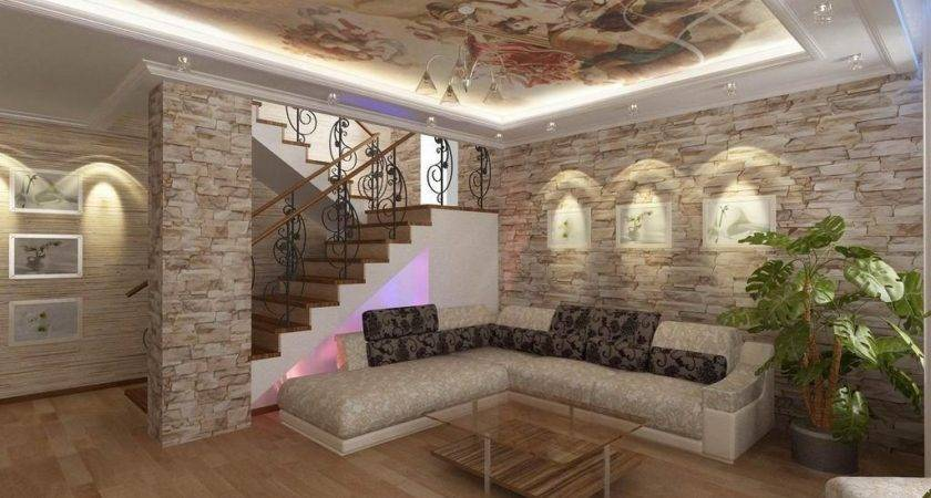 Decor Dazzling Faux Stone Wall Modern