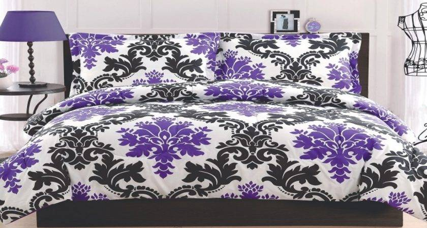 Decor Ideas Purple Black White
