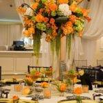Decor Tangerine Tablescape Weddbook