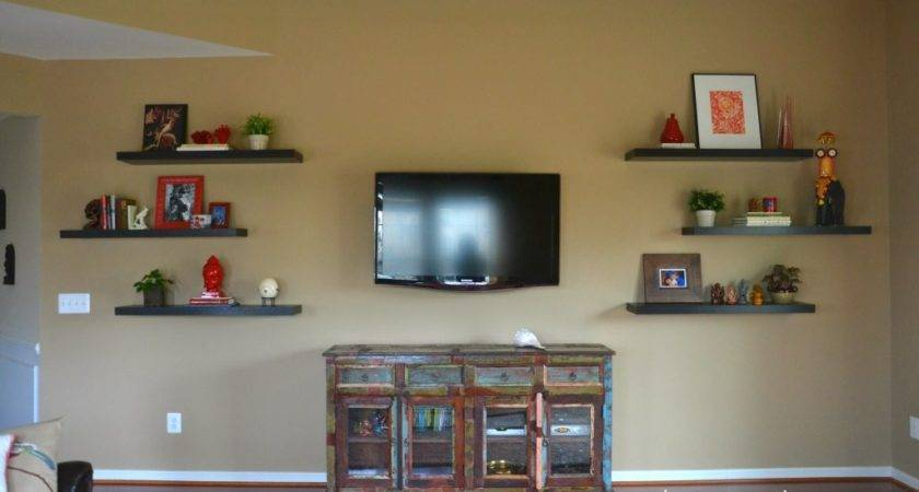 Decorate Around Floating Shelves Whats