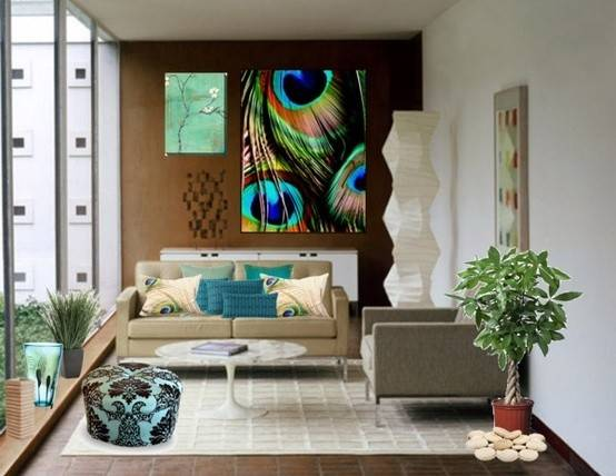 Decorate Blue Peacock Home Decor Excellent Charming