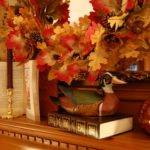 Decorate Fireplace Mantel Fall Autumn Books