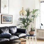 Decorate Living Room Black Leather Sofa