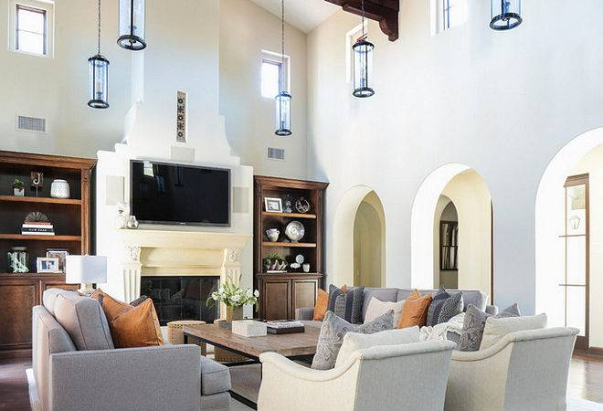 Decorate Living Room High Ceilings Fabulous