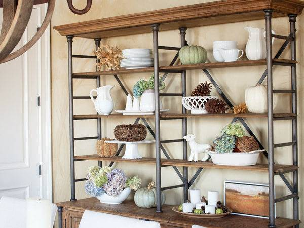 Decorate Shelves Fall Anytime Really