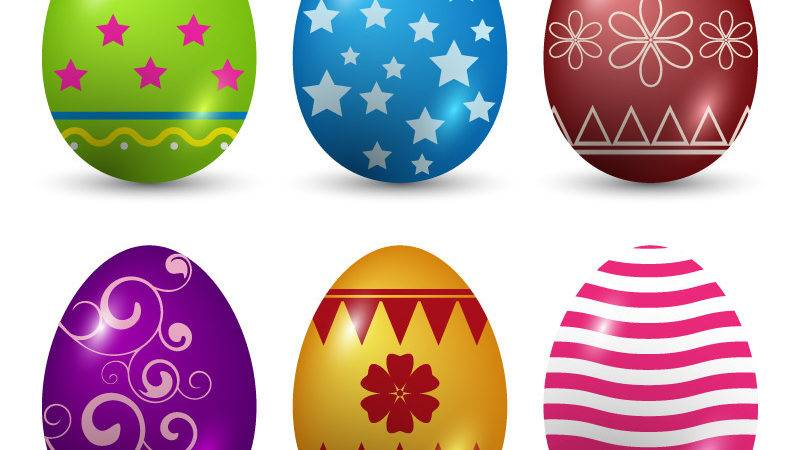 Decorated Easter Eggs Vector Art Freevectors