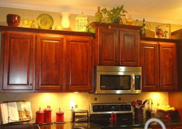 Decorating Above Kitchen Cabinets Tuscan Style Decolover