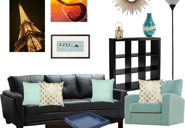 Decorating Around Black Leather Couch Slashed Beauty