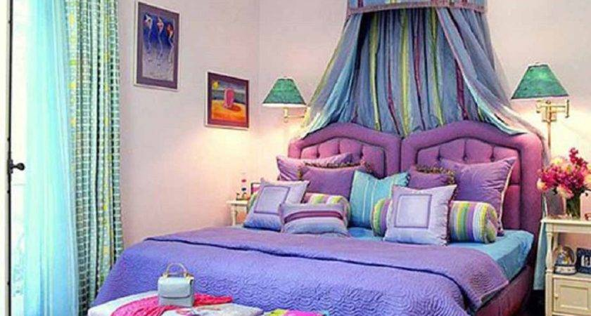 Decorating Bedroom Green Blue Purple