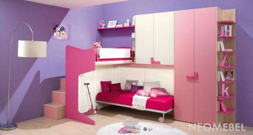 Decorating Bedroom Paint Pink Purple Color Theme Girl