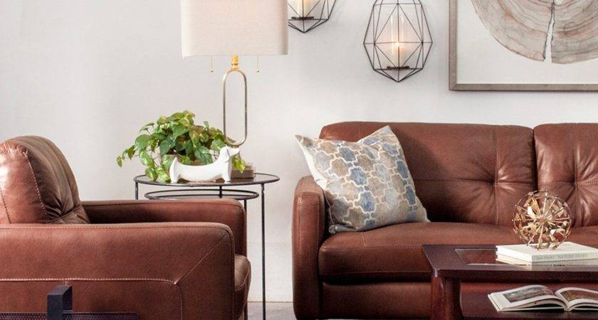 Decorating Brown Leather Furniture Tips