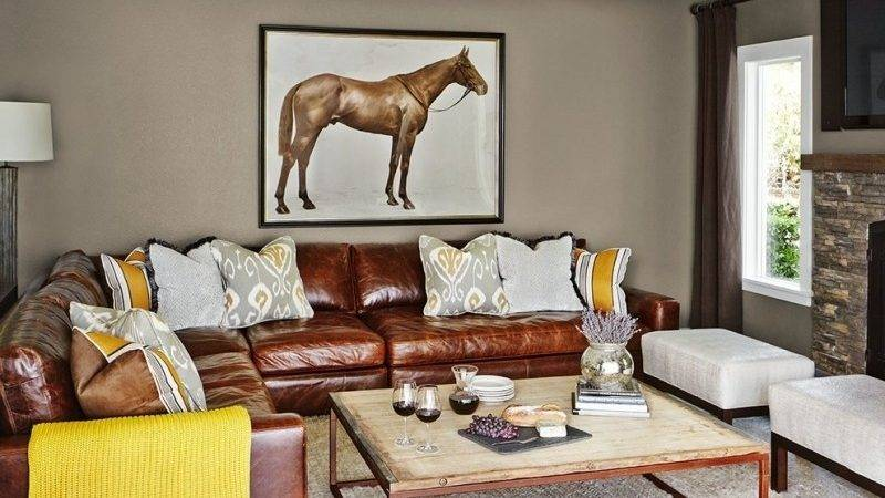 Decorating Ideas Around Brown Leather Couch