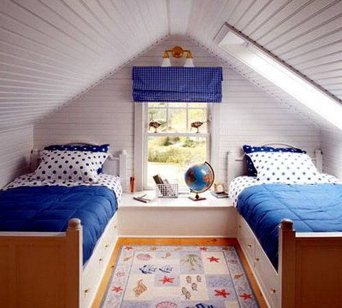 Decorating Ideas Kids Room Pitched Roof